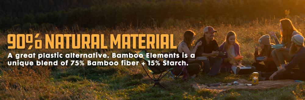 Bamboo Elements Meal Kit and Mess Kit 90% Natural Material. Great for camping and the outdoors