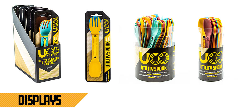 UCO Ware Meal Kit and Spork Product Displays and POP