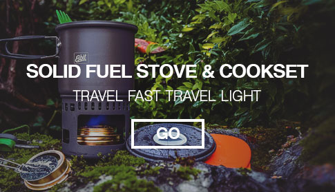 Esbit Solid Fuel Stove Cookset - Travel fast travel light